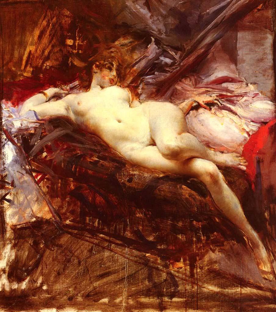 "Джованни Больдини (Giovanni Boldini), ""Reclining Nude"""