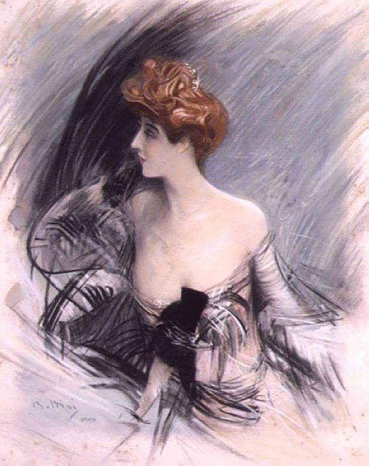 "Джованни Больдини (Giovanni Boldini), ""Portrait of Sarah Bernhardt"""
