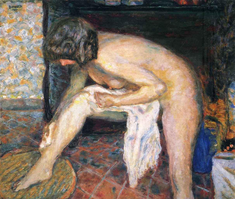 "Пьер Боннар (Pierre Bonnard) ""Woman leaning"""
