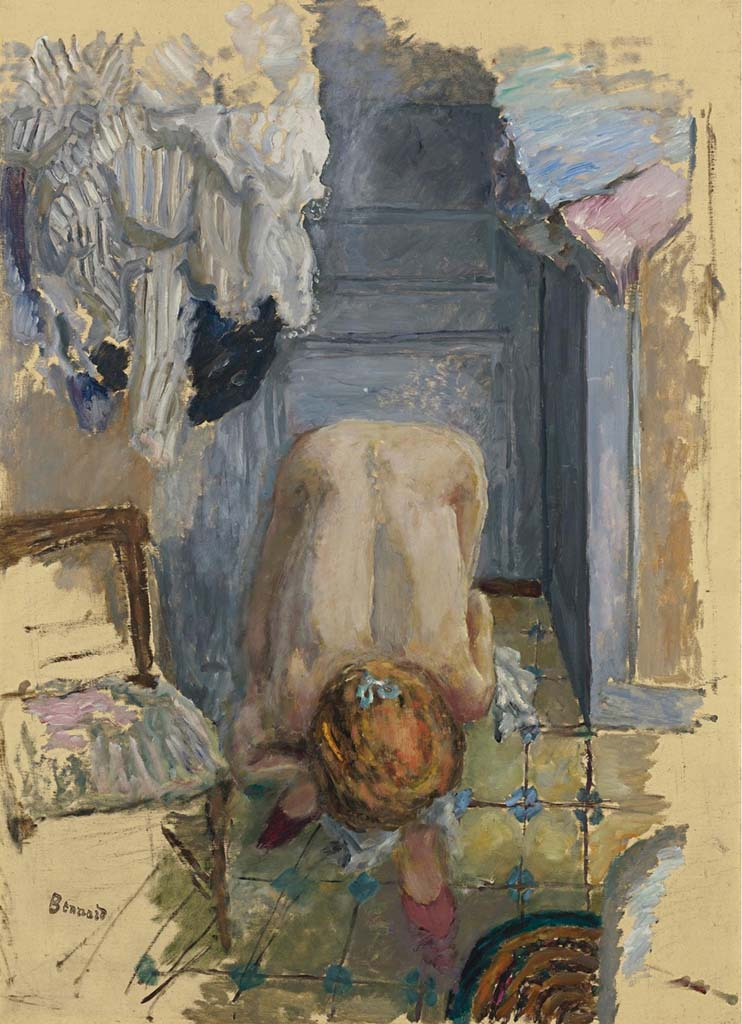 "Пьер Боннар (Pierre Bonnard) ""Nu accroupi penche en avant"""