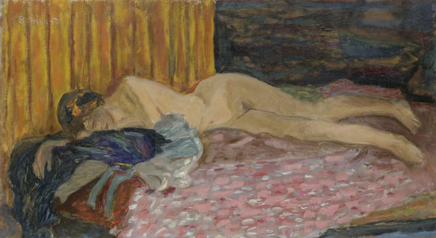 "Пьер Боннар (Pierre Bonnard) ""Nude on a pink sofa"""