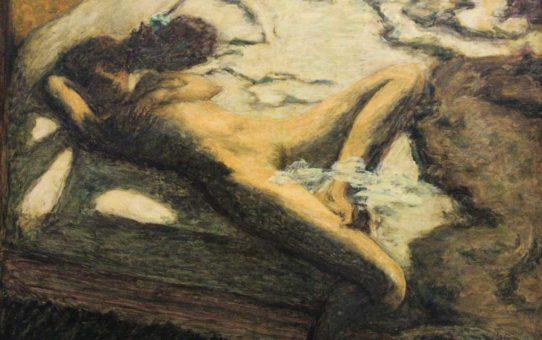 """Пьер Боннар (Pierre Bonnard) """"Femme assoupie sur un lit"""""""