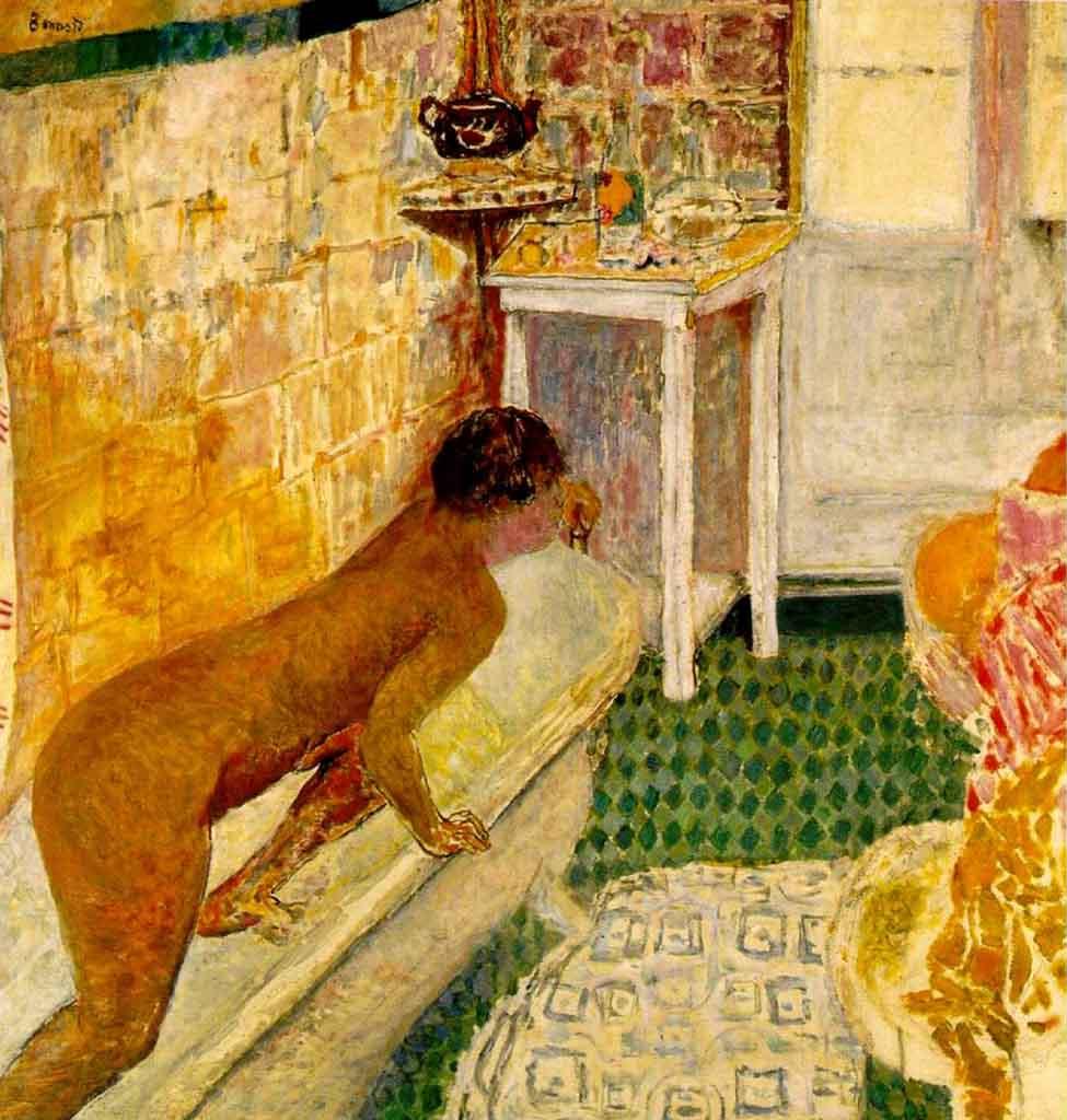 """Пьер Боннар (Pierre Bonnard) """"The exit of the bath (La sortie de la baignoire)"""""""