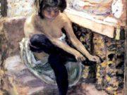 """Пьер Боннар (Pierre Bonnard) """"Woman in Black Stockings"""""""