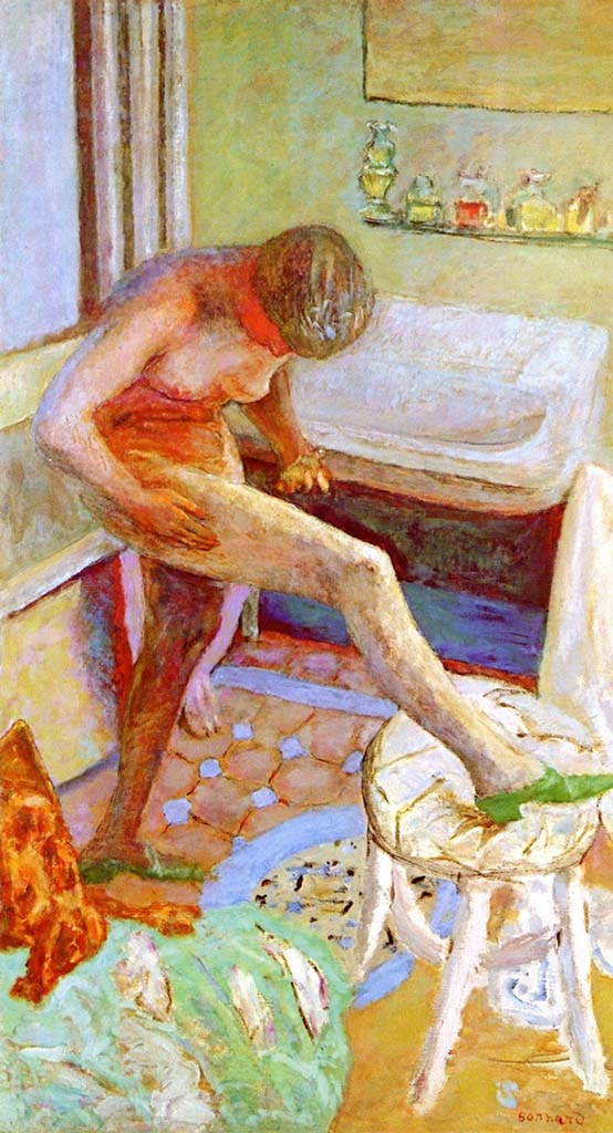 """Пьер Боннар (Pierre Bonnard) """"Nude in green slippers"""""""