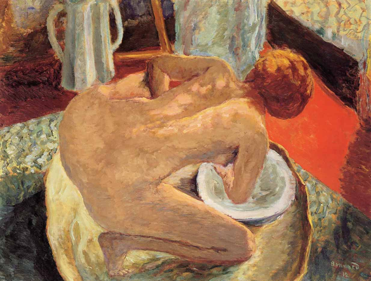 "Пьер Боннар (Pierre Bonnard) ""Woman in a Tub (also known as Nude Crouching in a Tub)"""