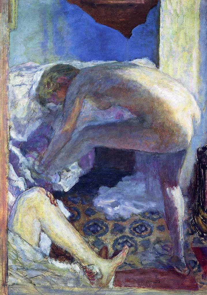 "Пьер Боннар (Pierre Bonnard) ""The big blue naked (Le grand nu bleu)"""
