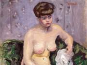 "Пьер Боннар (Pierre Bonnard) ""Model with a White Robe"""