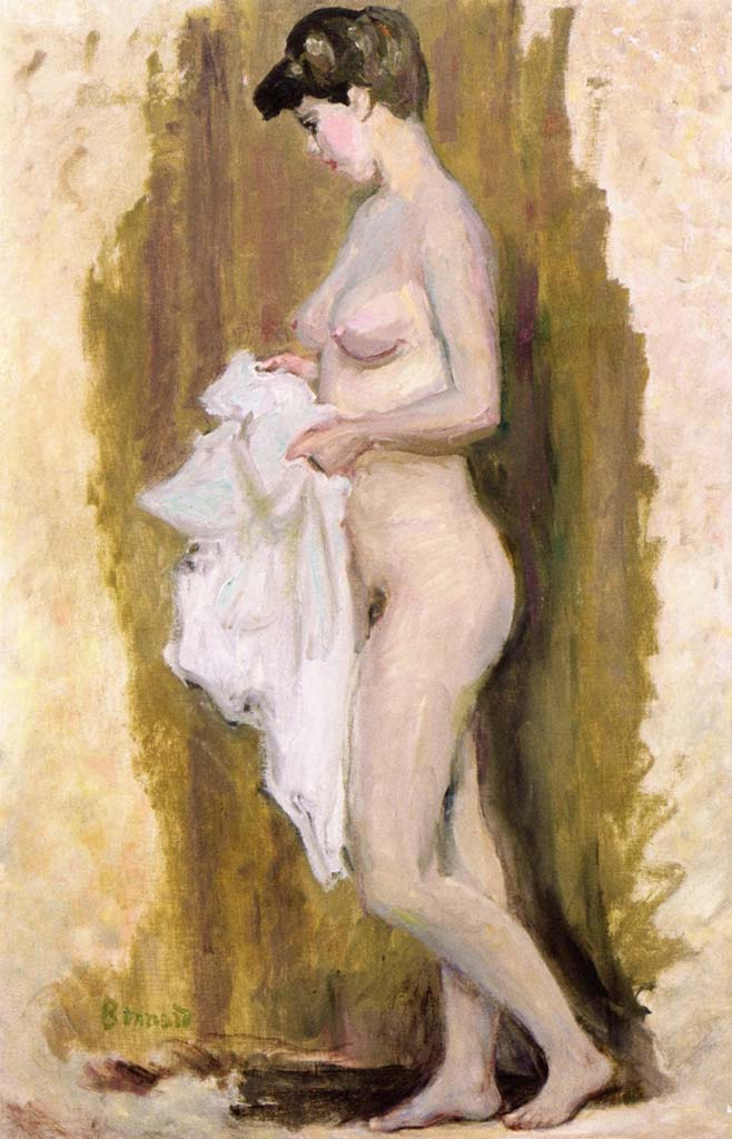 "Пьер Боннар (Pierre Bonnard) ""Standing Nude with Towel"""