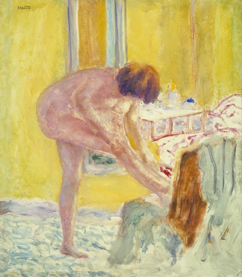 """Пьер Боннар (Pierre Bonnard) """"Nu, fond jaune"""""""