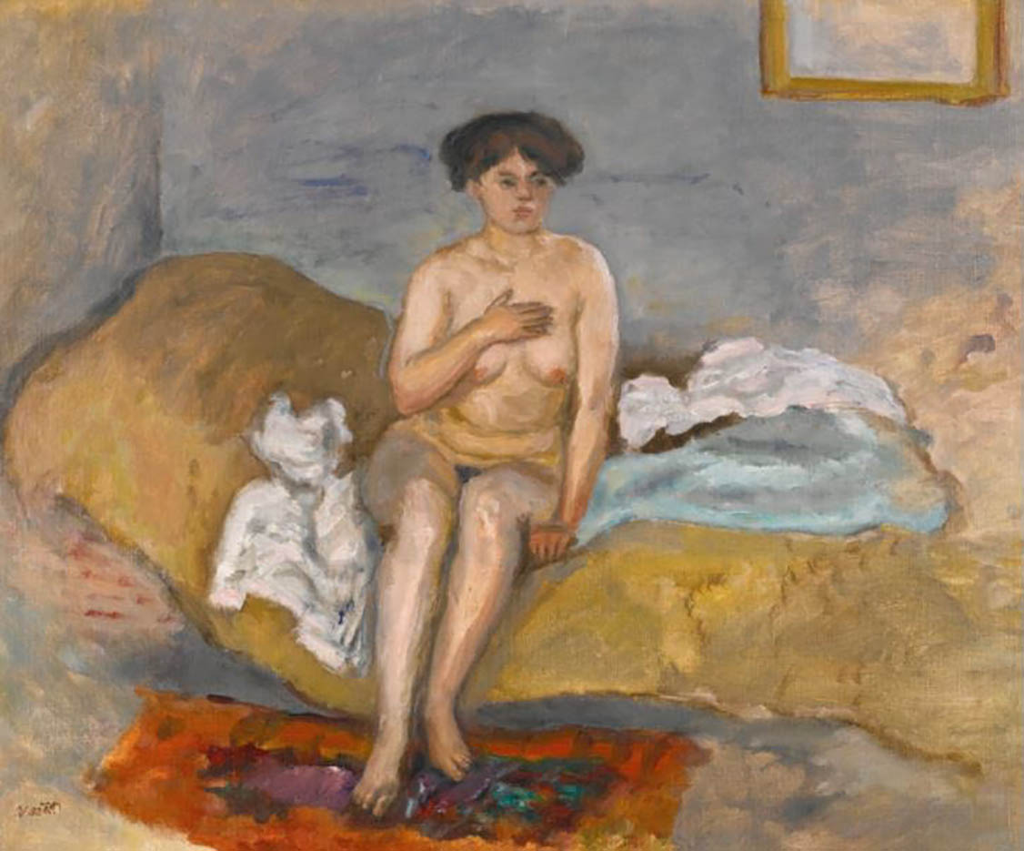 "Пьер Боннар (Pierre Bonnard) ""Femme nue assise sur un divan"""