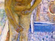 "Пьер Боннар (Pierre Bonnard) ""Nude with Red Slippers"""