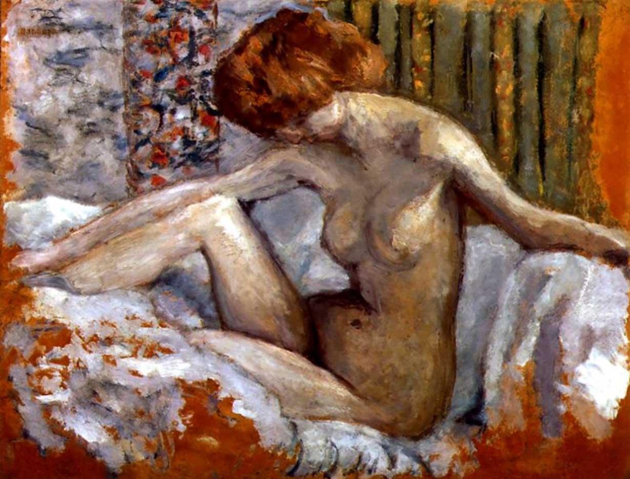 "Пьер Боннар (Pierre Bonnard) ""Nude in bed"""