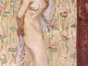 "Пьер Боннар (Pierre Bonnard) ""Nude with Rose Patterned Curtain"""