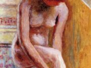 "Пьер Боннар (Pierre Bonnard) ""Pink Nude Reflected in a Mirror"""