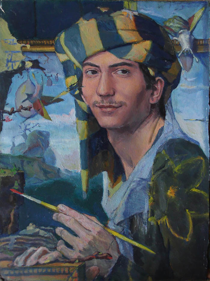 "Адриан Борда (Adrian Borda), ""Self Portrait, Flying Snails"""