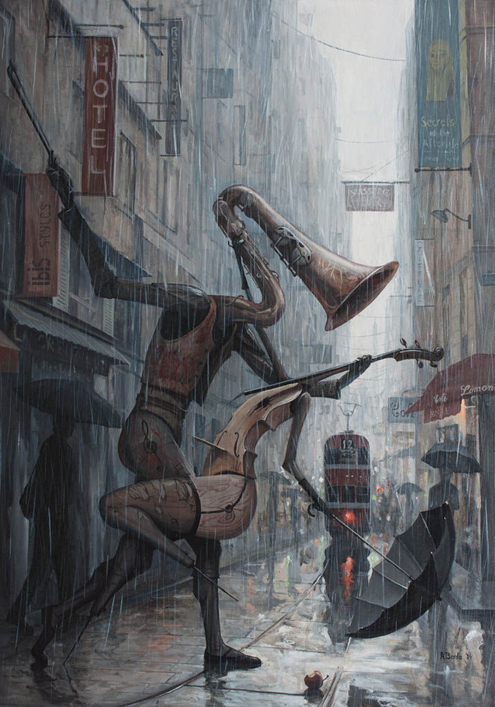 "Адриан Борда (Adrian Borda), ""Life is a dance in the rain III"""