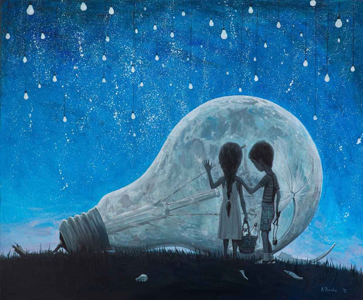 "Адриан Борда (Adrian Borda), ""The night we broke the Moon"""