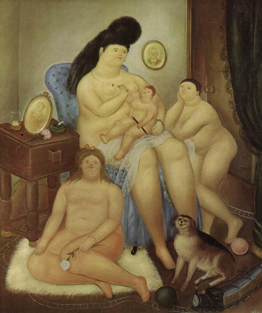 "Фернандо Ботеро (Fernando Botero) ""Protestant family"""