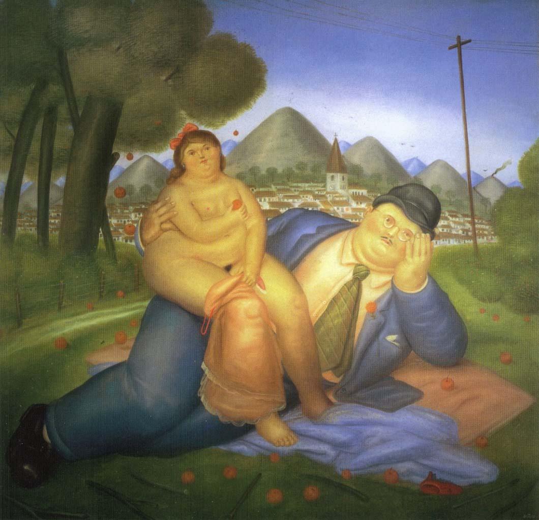 "Фернандо Ботеро (Fernando Botero) ""Влюбленные - 2 | Lovers - 2"""