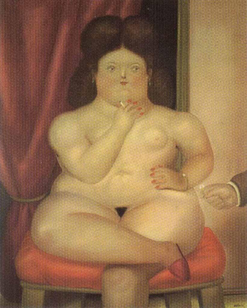 "Фернандо Ботеро (Fernando Botero) ""Сидящая женщина | Woman Sitting"""