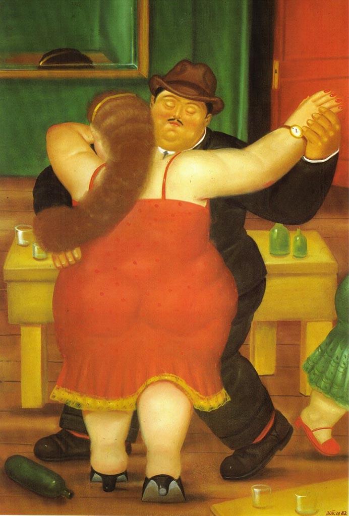 "Фернандо Ботеро (Fernando Botero) ""Couple Dancing"""