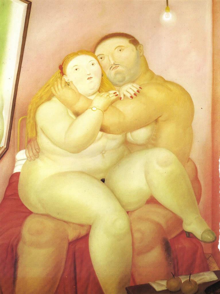 "Фернандо Ботеро (Fernando Botero) ""Влюбленные - 3 | Lovers - 3"""