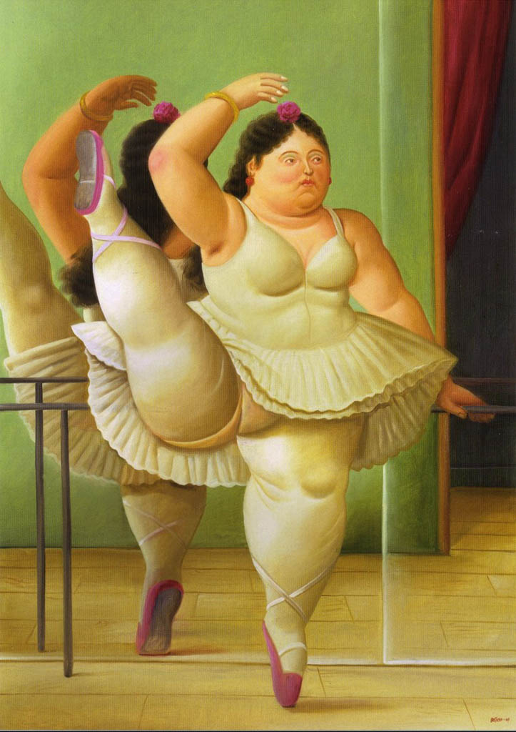 """Фернандо Ботеро (Fernando Botero) """"Dancers at the Bar"""""""