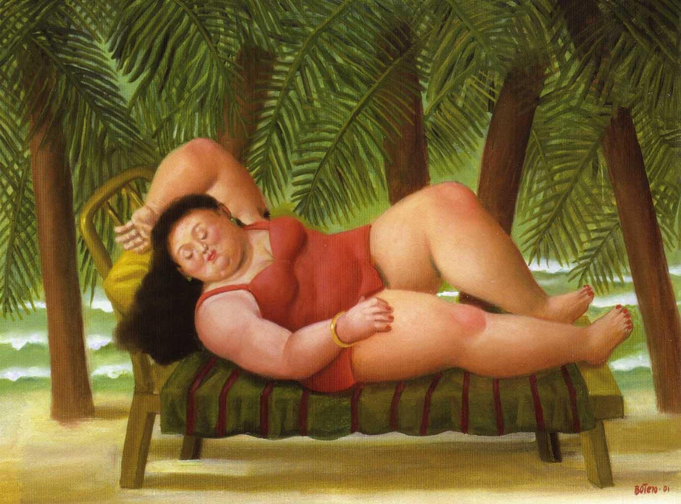 "Фернандо Ботеро (Fernando Botero) ""Bather on the Beach"""
