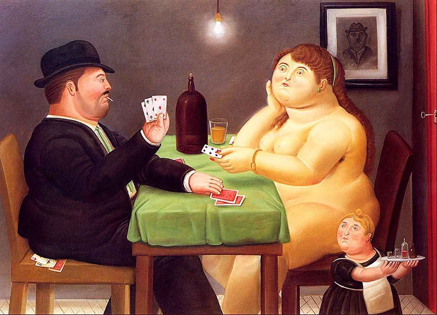 "Фернандо Ботеро (Fernando Botero) ""Игроки в карты | The Card Player"""