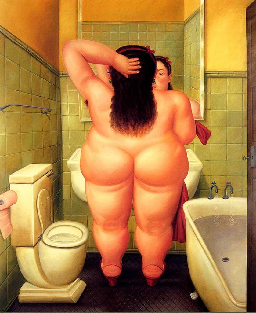 "Фернандо Ботеро (Fernando Botero) ""Ванная комната | The Bath"""