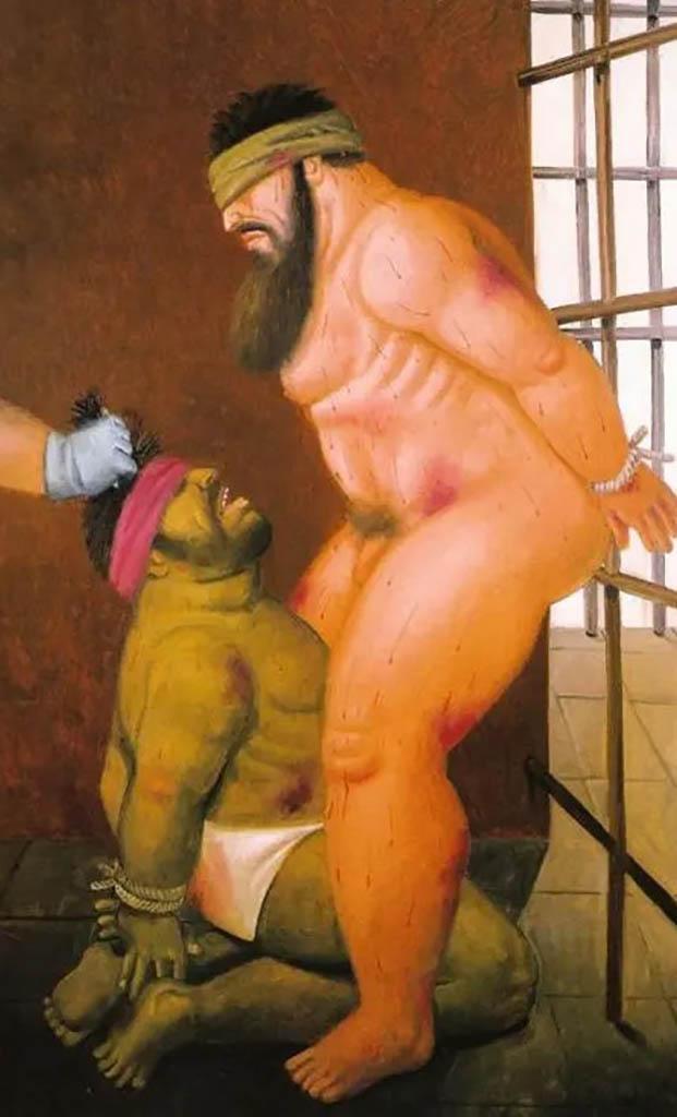 "Фернандо Ботеро (Fernando Botero) ""Абу-Грейб - 51 | Abu Ghraib - 51"""