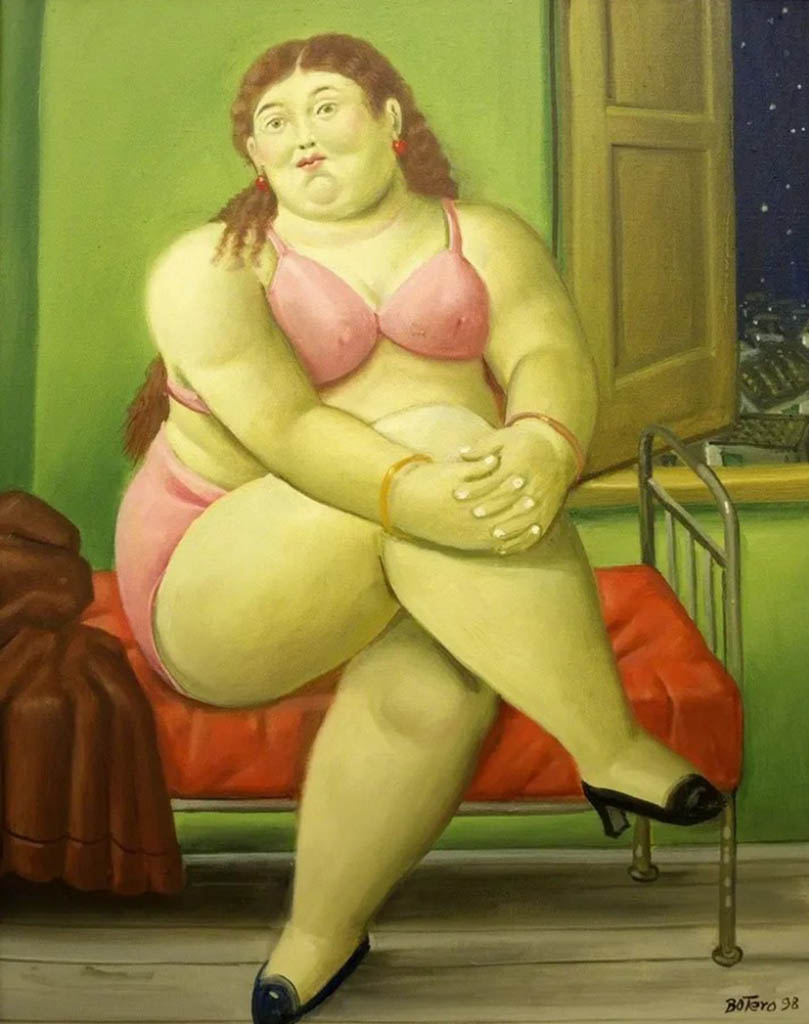 "Фернандо Ботеро (Fernando Botero) ""Спальня | Bedroom"""