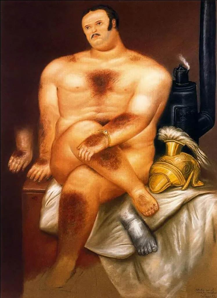 "Фернандо Ботеро (Fernando Botero) ""Этюд мужской модели | Study of a male model"""