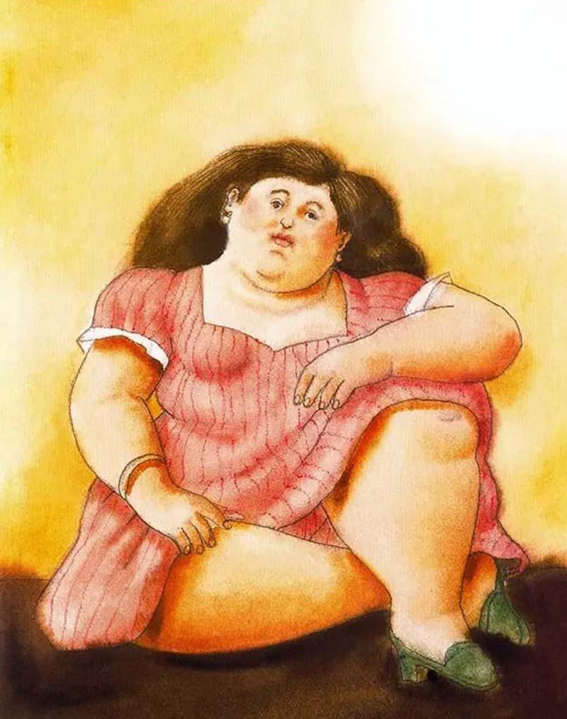 "Фернандо Ботеро (Fernando Botero) ""Сидящая женщина - 2 | Seated woman - 2"""