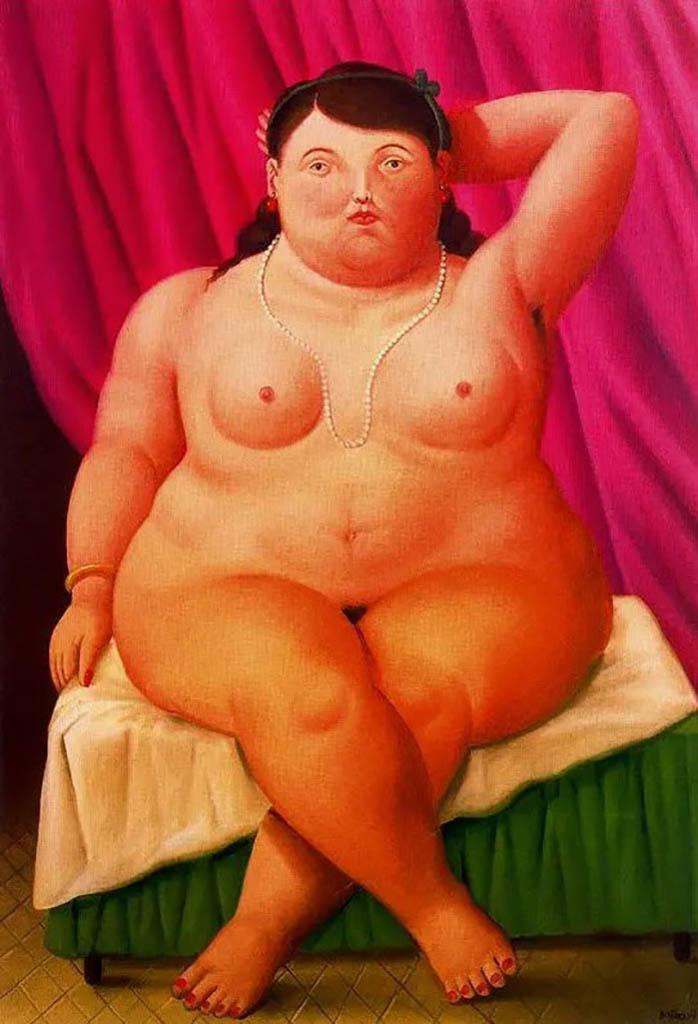 "Фернандо Ботеро (Fernando Botero) ""Сидящая женщина - 3 | Seated woman - 3"""