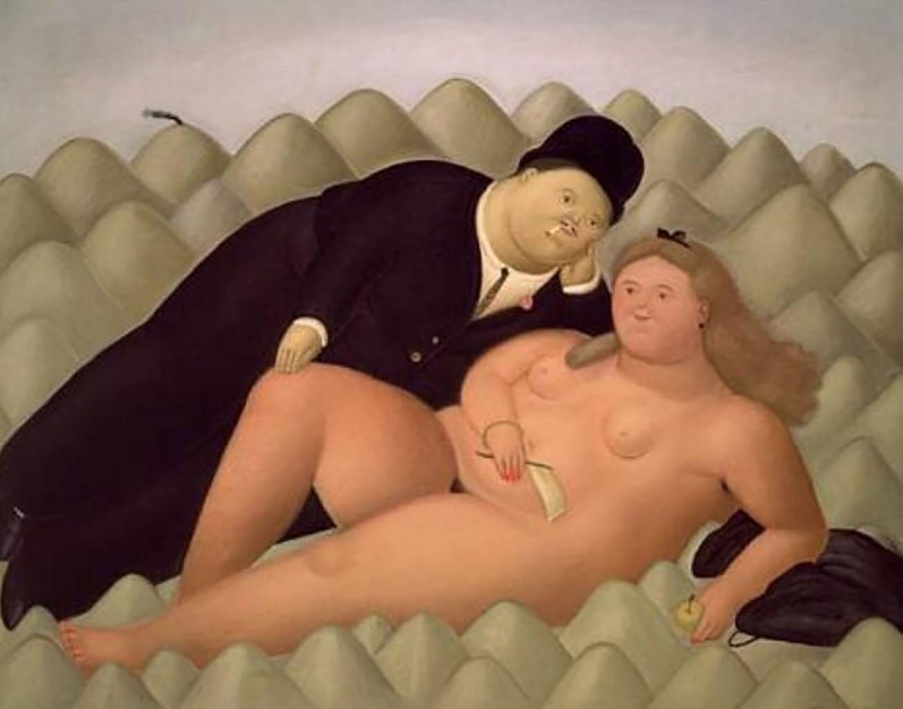 "Фернандо Ботеро (Fernando Botero) ""Влюбленные - 4 | Lovers - 4"""