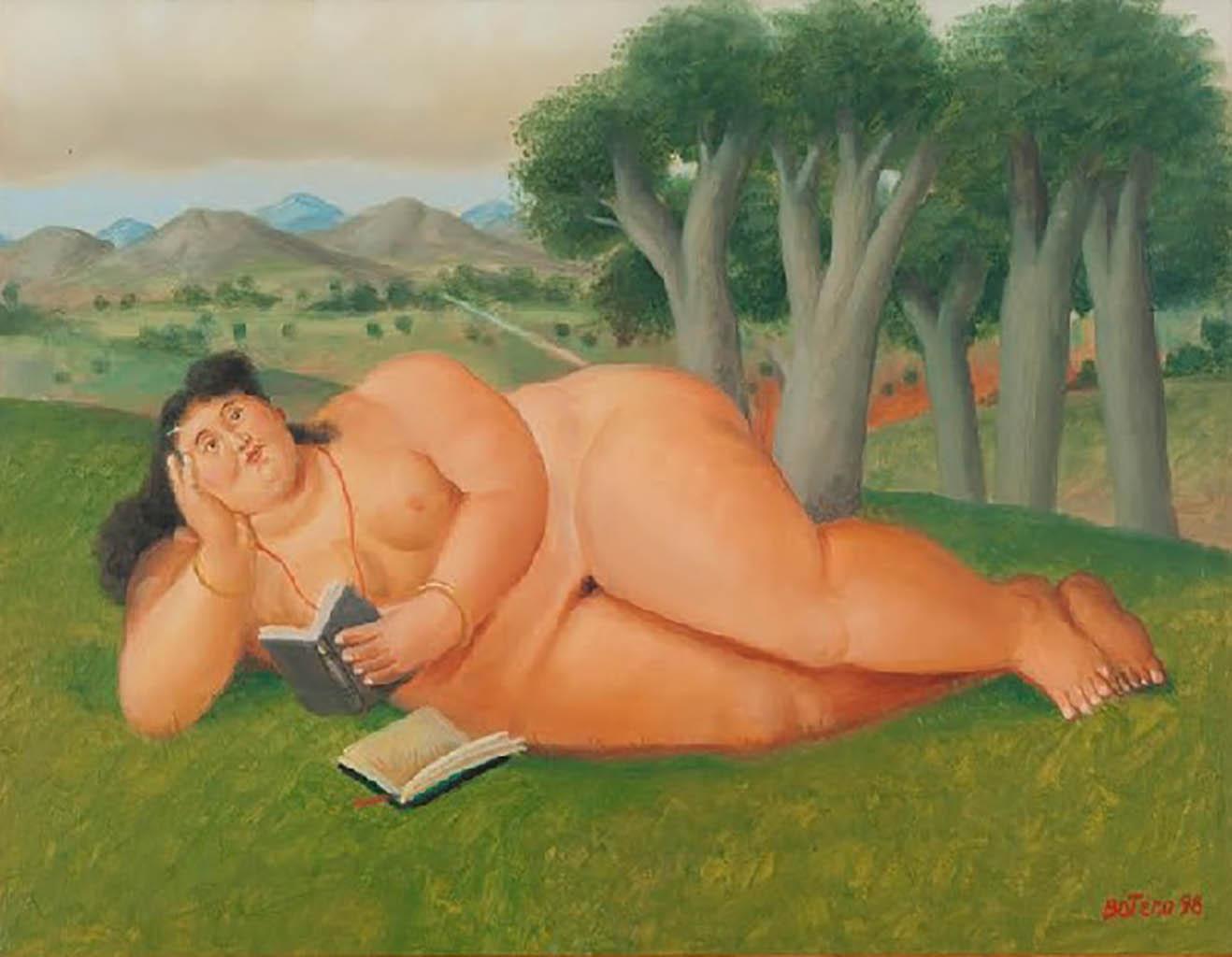 "Фернандо Ботеро (Fernando Botero) ""Читающая женщина | Mujer leyendo"""