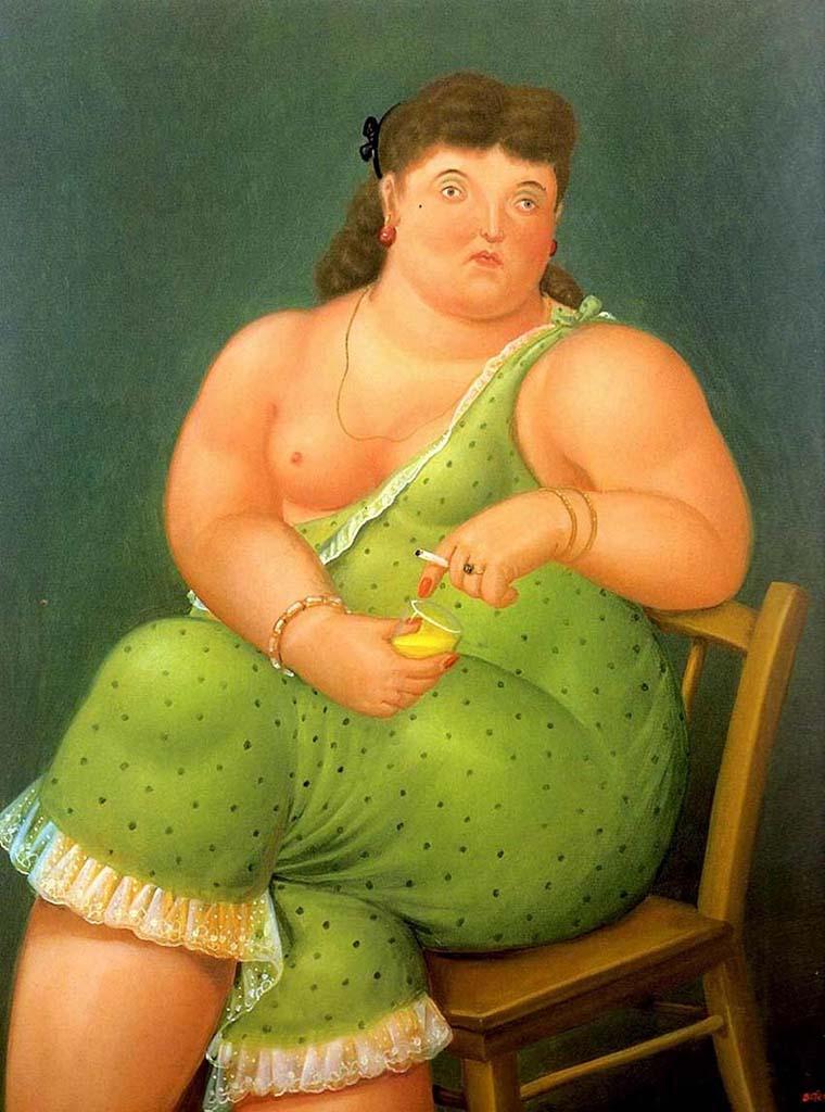 "Фернандо Ботеро (Fernando Botero) ""Женщина с сигаретой | Woman with a cigarette"""