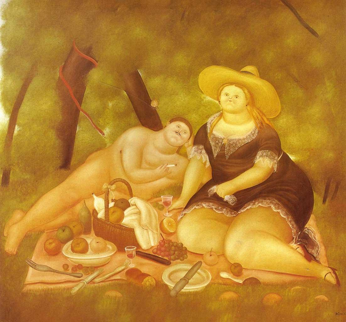 """Фернандо Ботеро (Fernando Botero) """"Luncheon on the Grass"""""""