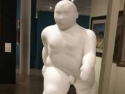 "Фернандо Ботеро (Fernando Botero) sculpture ""Uomo che cammina | Walking Man"""