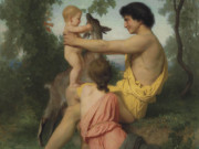 "Вильям Адольф Бугро (William Adolphe Bouguereau) ""Ancient Family (Idylle: famille antique)"""