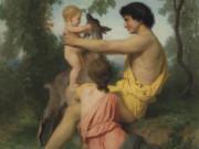 "Вильям Адольф Бугро (William Adolphe Bouguereau) ""Ancient Family (Idylle: famille antique)"""