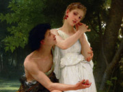 "Вильям Адольф Бугро (William Adolphe Bouguereau) ""Her First Jewels (Les premiers bijoux)"""