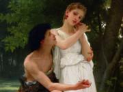 "Вильям Адольф Бугро (William Adolphe Bouguereau) ""Her First Jewels (Les premiers bijoux)"""