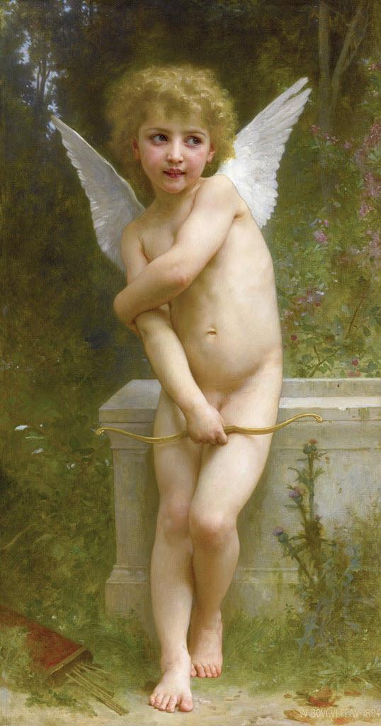 "Вильям Адольф Бугро (William Adolphe Bouguereau) ""L'amour pique"""