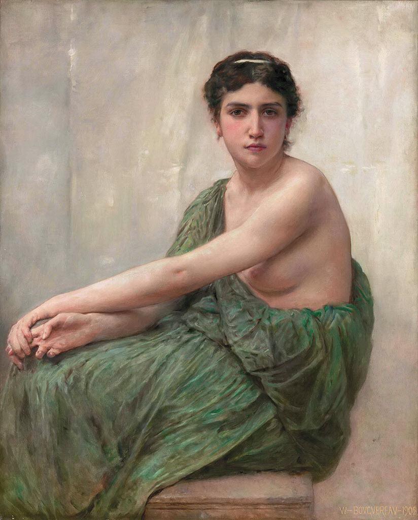 """Вильям Адольф Бугро (William Adolphe Bouguereau) """"Reflexion"""""""