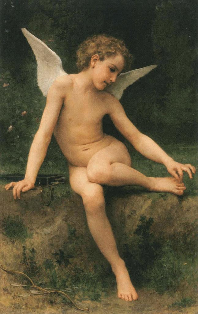 """Вильям Адольф Бугро (William Adolphe Bouguereau) """"Cupid with a thorn"""""""