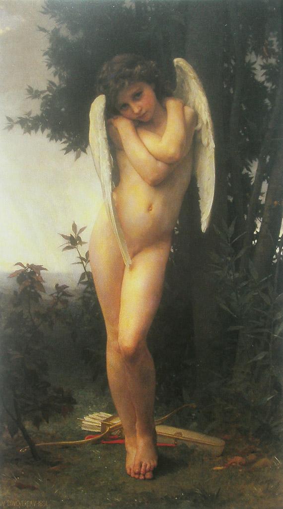 "Вильям Адольф Бугро (William Adolphe Bouguereau) ""Wet cupid (L'amour mouille)"""