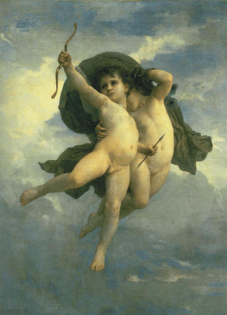 "Вильям Адольф Бугро (William Adolphe Bouguereau) ""Cupid victorious"""